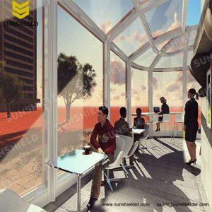 Cafe & Bar Enclosure - Restaurant Patio Enclosure - Sunshield Shelter