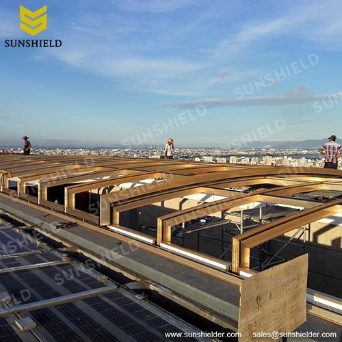 Commercial Skypool Enclosure - Hotel Polycarbonate Sun House - Garden Greenhouse - Sunshield
