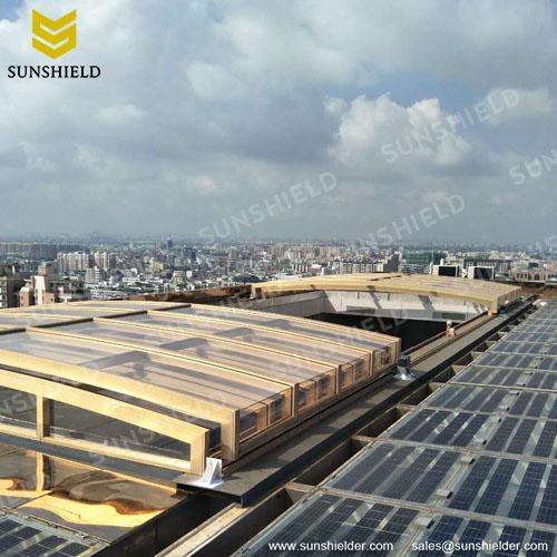 Sunhouse- Pool Enclosures - Retracting Polycarbonate Enclosures - Sunshield Shelter