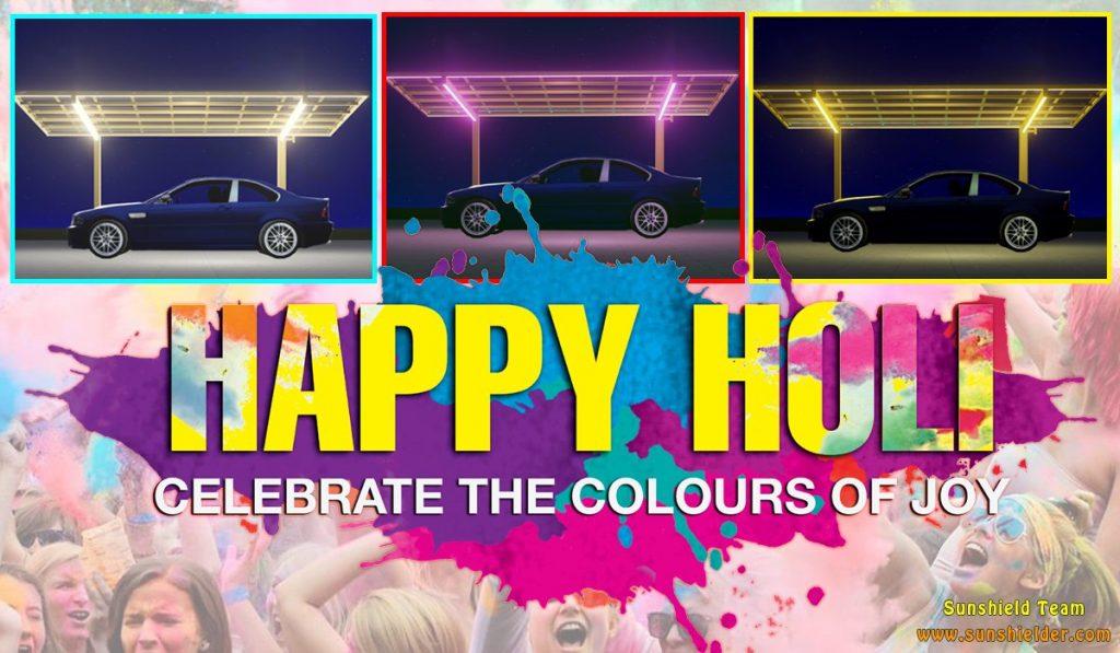 Happy Holi - Colorful Life - India Holi - Sunshield Colorful Lighting Shelter