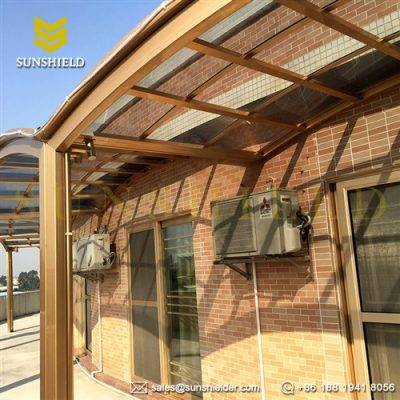 Hotel & Restaurant Patio Cover -Outdoor Space Shade -Polycarbonate Shelter -Aluminum Alloy Porch Shelter-Sunshield (4)