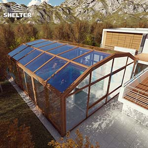 6-2-Aluminium-Swimming-Pool-Enclosures-Residential-UV-Protection-Sunshield-Shelter-12M-5.4M-Brown-1
