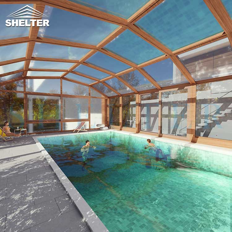 Outdoor Swimming Pool  Enclosures-design-cases-in-private-villa-Sunshield-Shelter-2 - SunShield