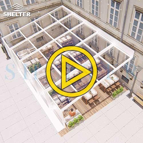 Outdoor Restaurant Enclosures-Transparent Polycarbonate