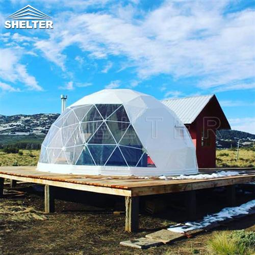 geodesic dome shelter for vacation home rental business-glamping dome tents for winter glamping vacations-all seasons dome house in cold areajpg (1)