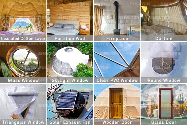 glamping dome tent accessories