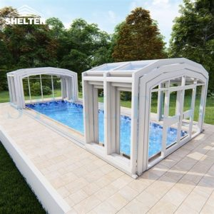 highline pool enclosure Retractable Pool Enclosures