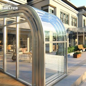 telescopic Sunroom additions shelter patio enclosures retractable sunroom 4x10m