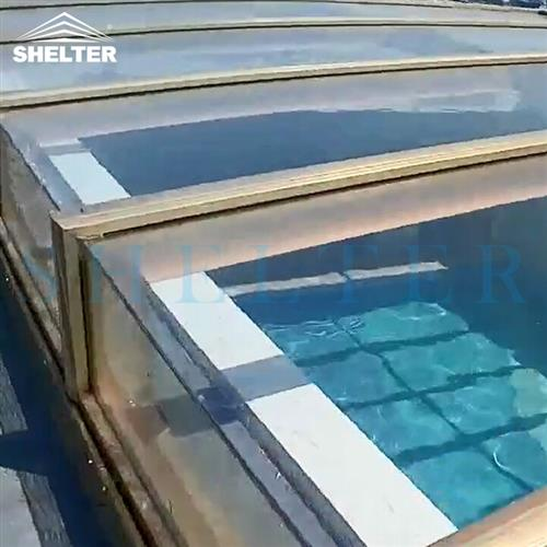 skylight-rooftop skylight enclosures-Hotel pool enclosures-Retractable Pool Covers-Shelter (2)