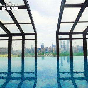Telescopic Enclosure Skypool Cover