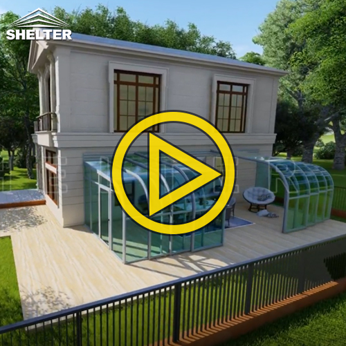 patio enclosure video - retactable sunroom - lean-to patio enclosure