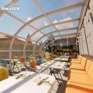retractable sunroom - patio enclosure - Sunshield Retractable Pool Enclosure