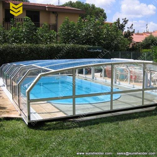All Covered Pool Enclosure U2013 Retractable Swimming Pool Cover U2013 Transparent  Enclosure U2013 Conservatory Enclosure U2013 Sunshield Shelter