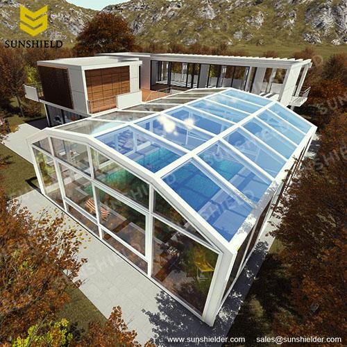 Swimming Pool Enclosures - Sunshield Glass Pool Dome- Greenhouse