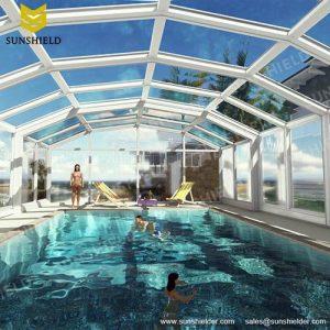 Swimming Pool Enclosures - Automatic Pool Dome - Polycarboante Sunroom - Sunshield Sunhouse