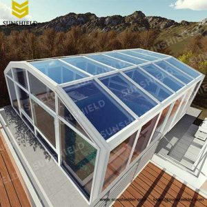 Insualting Glass Room - Heated Home Greenhouse- Outdoor Gym Stadium Cover - Sunshield Sun House
