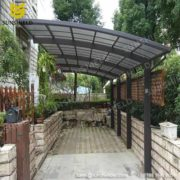 Free Standing Polycarbonate Patio Cover With Aluminum Gutter