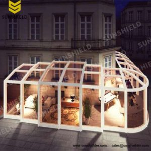 Tea House Enclosure - Restaurant & Cafe Enclosure - Pop -up Store Enclosure-Sunshield