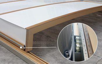 Auto Retractable Sliding Bays -Portable Sun Room Sunshield Sun House