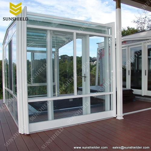 Gym straight glass sunroom yoga exercise outdoor room
