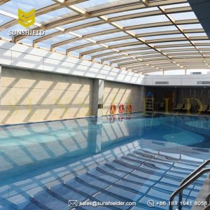 Swimming pool enclosures sunshield glass pool dome greenhouse Retractable swimming pool enclosures