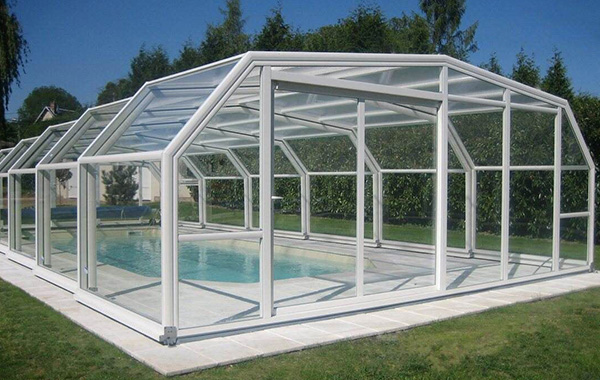 Retractable Pool Enclosure U2013 Swimming Pool Enclosure U2013 Telescopic  Polycarbonate Enclosures U2013 Sunshield Sunroom U2013 Straight Pool House