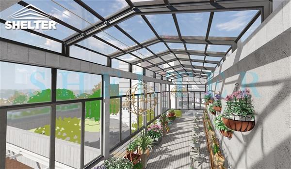 A frame polycarbonate solarium-clear polycarbonate enclosure-Sunshield