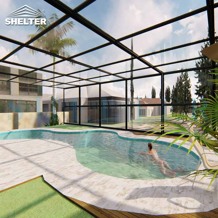 Inground Swimming Pool Enclosures with UV protection-2
