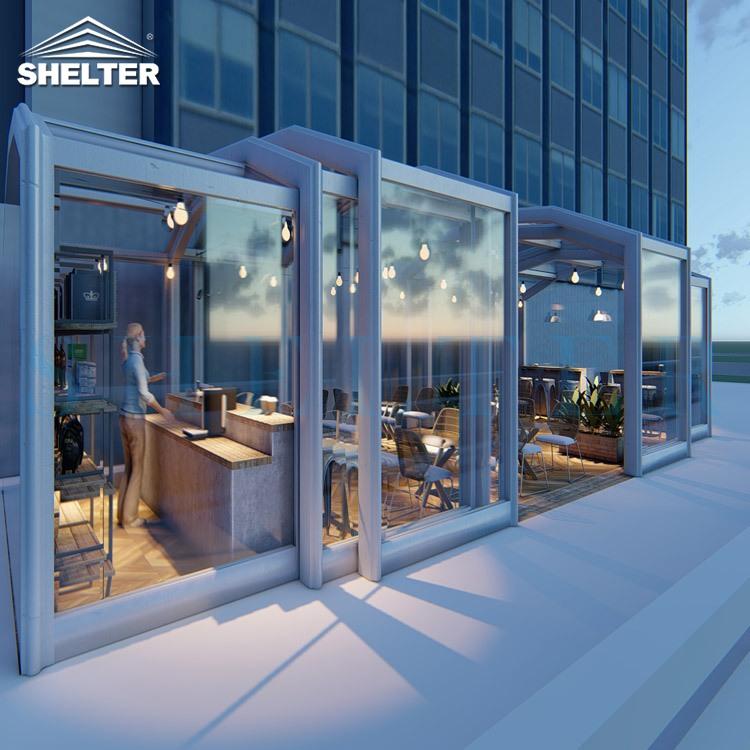 Retractable Patio Enclosures For Cafes-3