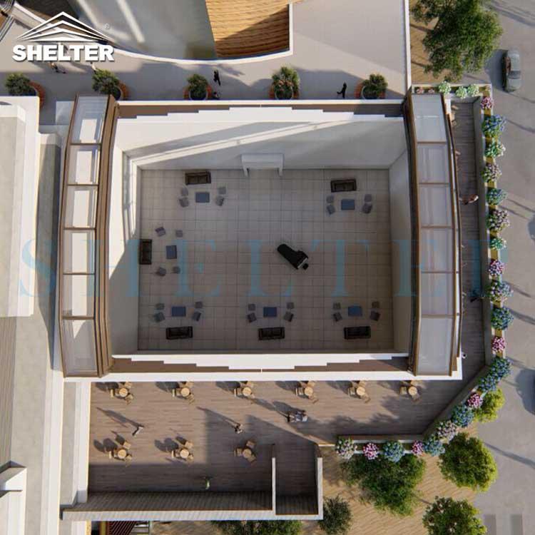 Conservatory Roof Design 17.4×22×2.2 m (4)