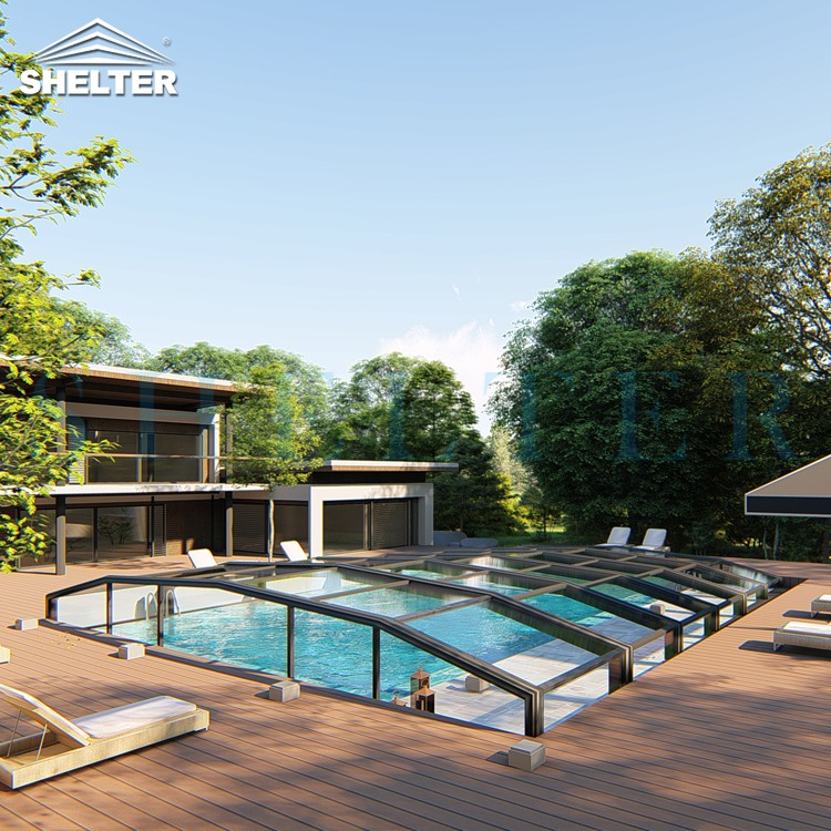 Low height Pool Enclosures 12×16.8×1.2M