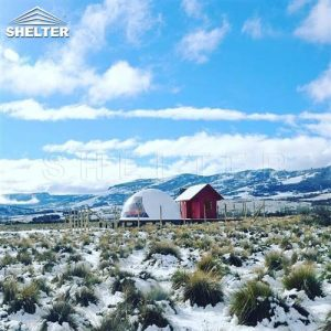 geodesic dome shelter for vacation home rental business-glamping dome tents for winter glamping vacations-all seasons dome house in cold areajpg (3)