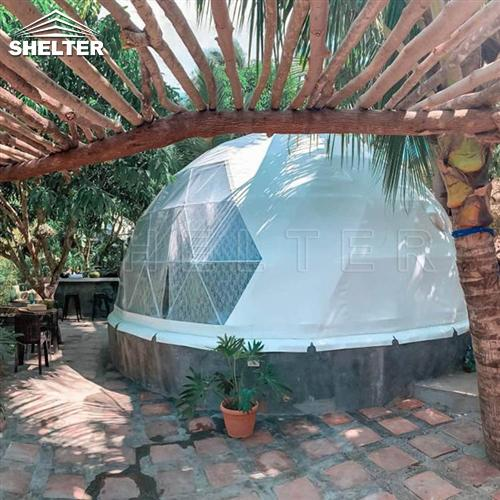 igloo dome tent for for tropical resorts-geodesic dome shelters for homestays rental business-luxury dome house for backyard lounge (1)