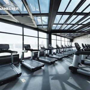 Rooftop Telescopic Enclosures gym rooftop sunroom enclosure for gym