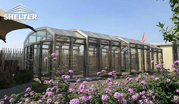 high sunroom-retractable enclosures-enclosures gallery-Shelter Sunroom