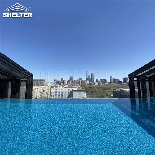 hotel lean to pool enclosures-wall attached pool screens-telescopic pool enclosure-Shelter Pool Enclosure Covers (2)