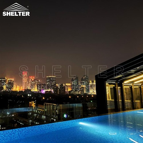 hotel lean to pool enclosures-wall attached pool screens-telescopic pool enclosure-Shelter Pool Enclosure Covers (4)