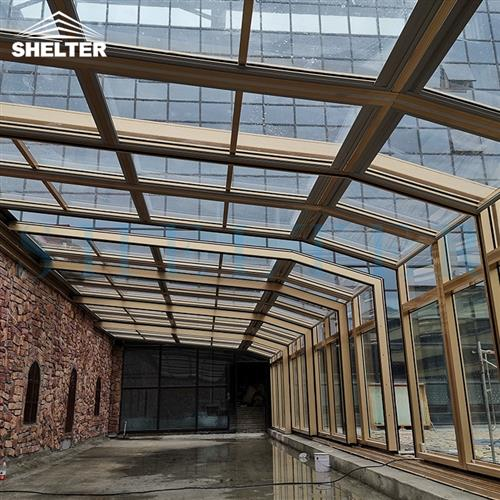 hotel patio enclosures-retractable sunroom-restaurant commercial enclosures-sunshield shelter (2)