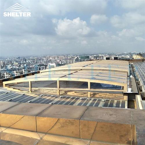 skylight-rooftop skylight enclosures-Hotel pool enclosures-Retractable Pool Covers-Shelter (3)