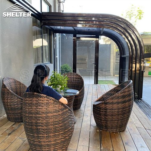 arch home patio enclosures-telescopic patio enclosure-Shelter Sunroom (3)