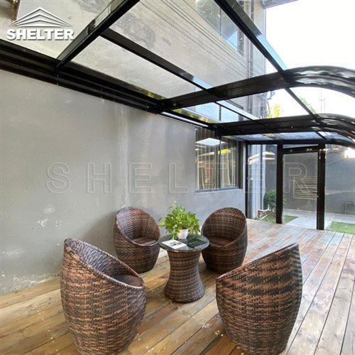 arch home patio enclosures-telescopic patio enclosure-Shelter Sunroom (5)