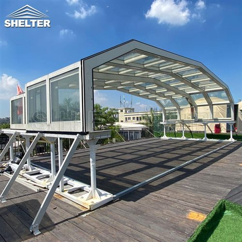 rooftop bar sunroom-retractable clear enclosures-Shelter telescopic sunhouse (2)
